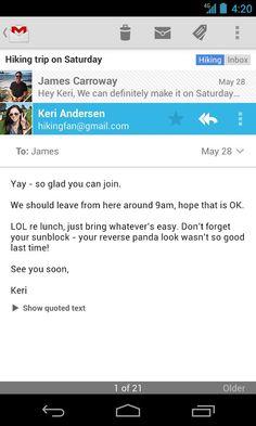 """U verziji Gmaila za Android 4.5.2 konačno vraćen """"Delete"""" dugmić http://www.androidrevija.com/u-verziji-gmaila-za-android-4-5-2-konacno-vracen-delete-dugmic/"""