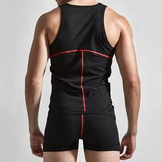 98643f3abedf Fitness Sexy Cotton One Piece Siamese Vest Body Sculpting Pajamas for Men