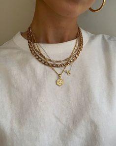 Dainty Jewelry, Cute Jewelry, Gold Jewelry, Jewelry Accessories, Fashion Accessories, Fashion Jewelry, Trendy Jewelry, Layered Jewelry, Layered Gold Necklaces