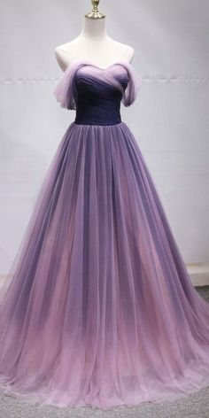 Schulterfrei Tüll Lange Ombre Ballkleider Prinzessin Abendkleid - Dresses - Schulterfrei Tüll Lange Ombre Ballkleider Prinzessin Abendkleid Off Shoulder Tulle Long Ombre Prom Dresses Princess Evening Dress Dress Gowns # Ombre Prom Dresses, Princess Prom Dresses, Cute Prom Dresses, Dance Dresses, Ball Dresses, Pretty Dresses, Homecoming Dresses, Ball Gowns, Evening Dresses
