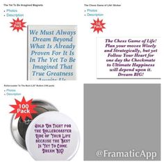 #Buttons #Stickers & #Magnets #Bulk sets in my #GiftShop #Positive #Inspirational #Messages http://www.cafepress.com/kjacdesigns #Business #Birthday #giftideas #gifts #inspiration #motivation #motivational #inspiring #inspire #Inspirationalquotes #partyfavors #officepartyfavors #success #entrepreneurs #entrepreneurship #fortune500 #leadership #b2b #DreamBig #Deals #Rewards #life