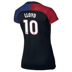 2016 Away Carli Lloyd Jersey USA Women's Soccer #10 - Black