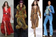 1970's INSPIRED FASHION | 1970's inspired runway looks