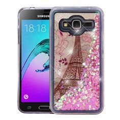 Insten Eiffel Tower Quicksand Hard Snap-on Case Cover For Samsung Galaxy Amp Prime/ Express Prime / J3