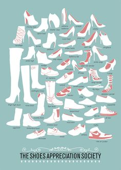 Shoe types infographic.