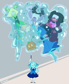 Oh Aquamarine... Oml Lapis is reaching for Peri :D