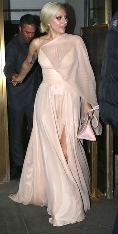 Lady Gaga in Christian Siriano out and about in NYC. #bestdressed