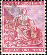 Cape of Good Hope 1871 SG 29 Hope Seated Fine Used SG 29 Scott 24 Other British Commonwealth Empire and Colonial stamps for sale Here