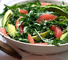 ***SALAD*** Kale And Pink Grapefruit Salad: Nutritional Information (per serving) Calories: 353 Fat: 27g Protein: 7g Sodium: 22mg Carbohydrates: 23g Fiber: 11g Sugar: 4g Salad >> SLOtility.com