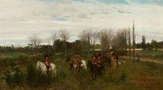 Wyjazd na polowanie - Maksymilian Gierymski