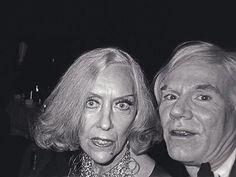 Gloria Swanson with Andy Warhol.