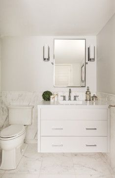 Wainscoting Powder Room Design Ideas, Pictures, Remodel and Decor