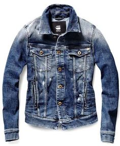 Definitely my favorite jean jacket. Denim Jacket Men, Denim Coat, Denim Jeans Men, Casual Jeans, Shirt Jacket, Denim Shirt, G Star Jacket, Jaket Jeans, Clothing Store Displays