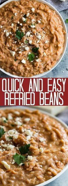 original_title] – Makayla Simon These Quick and Easy Refried Beans are made easy using canned pinto beans. They … These Quick and Easy Refried Beans are made easy using canned pinto beans. They are healthier made without the refry and are also vegetarian. Mexican Refried Beans, Canning Refried Beans, Homemade Refried Beans, Vegan Refried Beans, Refried Bean Dip, Mexican Beans Recipe, Canned Beans Recipe, Mexican Pinto Beans, Herbs