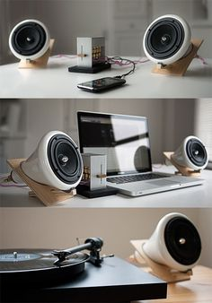 I thought how they made the speaker stand was very interesting. Simple yet modern and cool looking.