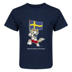 Sweden 2018 FIFA World Cup Russia™ Zabivaka Juvenile T-Shirt (Navy)- 25cd020dd