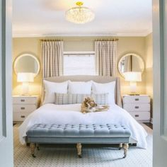 20 Inspiration Small Bedroom Design Ideas how to decorate sm. 20 Inspiration Small Bedroom Design Ideas how to decorate small apartment, smal Bed Against Window, Window Behind Bed, Window Bed, Window Headboard, Curtains Behind Bed, Tall Headboard, Small Master Bedroom, Small Bedrooms, Master Bedrooms