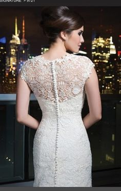 Beautiful lace and button detail
