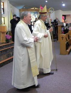 Celebrating with bishop Tonnos