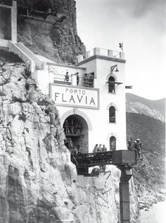 Porto Flavia allowed workers to lower ore directly down from the cliff into cargo ships below. Oh The Places You'll Go, Places To Visit, Sailing Holidays, Destinations, Sardinia Italy, Paradise Island, My Land, Mediterranean Sea, Luxury Yachts