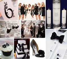 Another idea board for black and silver wedding- the table numbers are great!