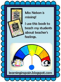 Learning in Spain: Miss Nelson is Missing! as classroom management.
