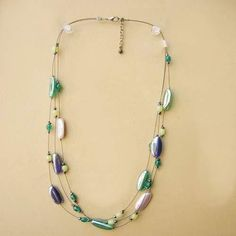 Glass Necklace Teal