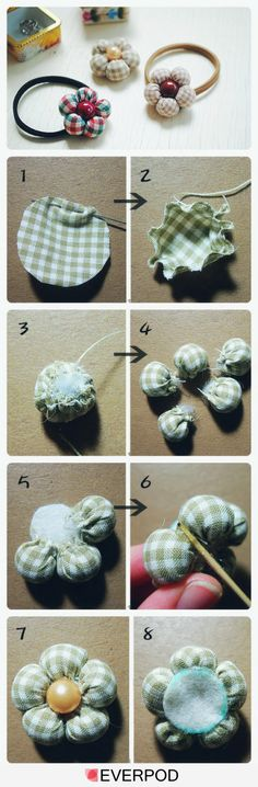 DIY/Tutorial Flower Hair Bobble