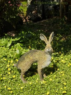 Hare :: Helen Godfrey Wire Sculpture     Nice sculptures and a lovely way they are photographed.
