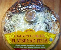 Thai Style Chicken Flatbread Pizza from What's Good at Trader Joe's