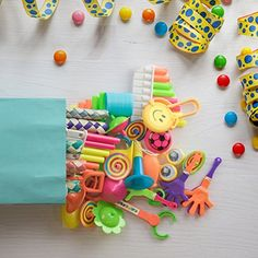 Bulk Toys Party Favors for Kids - 120 Pc Birthday Party Favor Toy Assortment for Goodie Bags Party Bags and Pinata Prizes - Get the party poppin' with this 120-pc. party favor pack that has something for everyone! Perfect for prize bags, piñata stuffers, carnival games, birthday party goodie bags and more! 120-PIECE TOYS VALUE PACK. This is a proper bag of prizes. Yes, there are googly eyes in there. GREAT FOR ANY KIN...
