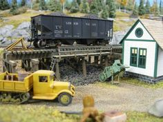 It has been said that collecting classic toy trains in the world's greatest hobby. Many of today's collectors received their first toy train set when they were young, often as a Christmas or birthday present. N Scale Model Trains, Model Train Layouts, Scale Models, Ho Scale Buildings, Hobby Trains, Model Building, Building Ideas, Train Set, Model Homes