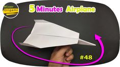 5 minutes to make paper planes, Cach gap may bay VER: 48 Physics Tricks, Make A Paper Airplane, Paper Planes, May Bay, How To Make Paper, Paper Size, Diy Tutorial, Paper Crafts, Make It Yourself
