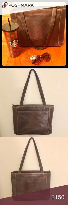 "😍🤗LIKE NEW LEVENGER LEATHER BAG❤️💋 LIKE NEW, PREOWNED, WORN MAYBE TWICE DISTRESSED CHOCOLATE BROWN LEVENGER FINE LEATHER TOOLS PURSE‼️ NO REAL SIGNS OF WEAR, BOTTOM GRIPS, MULTIPLE COMPARTMENTS🤗💋THIS BAG IS TRULY AWESOME, REALLY WELL MADE REAL LEATHER‼️ VERY REPUTABLE COMPANY FOR LEATHER PRODUCTS😍Made to look like distressed leather 🤗Grab this baby today or MK ME AN OFFER💋 🎀11 1/2 Deep 🎀14"" Wide When Stretched 🎀16"" Length  🎀12 1/2"" Straps Levenger Bags Shoulder Bags"