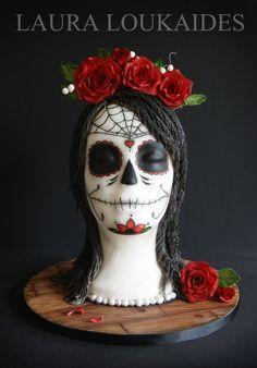 """""""Día de Muertos Sugar Skull"""" by Laura Loukaides"""