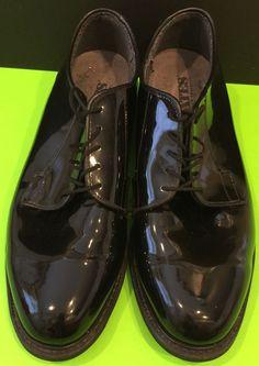 Bates Military Style Low Quarters Dress Shoes High Gloss Size 10E   eBay