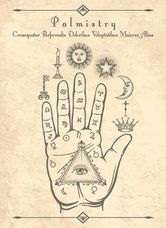 FREE PRINTABLE- Book of Shadows- Palmistry Artwork
