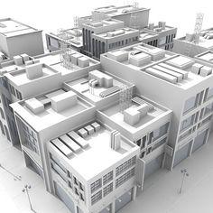 3D City Block :: 3D Models, Textures, Interior and Exterior scenes by Giimann in Autodesk 3D Studio MAX, 3DS, Lightwave LWO, Alias FBX, Maxo...