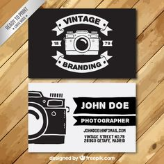 Photographer Visiting Card I Free Vector