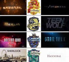 In most of these. Harry Potter, Supernatural, Avengers, Sherlock, Hannibal, star trek, Dr. Who, Merlin, Teen Wolf