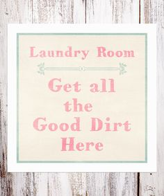 Whimsical Laundry Room Wall Sign