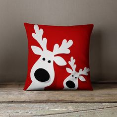 Holiday Pillows | Christmas Pillows | Christmas Cushion | Christmas Decorations | Reindeer Decorations ★ PLEASE REFER TO OUR SHIPPING POLICIES More