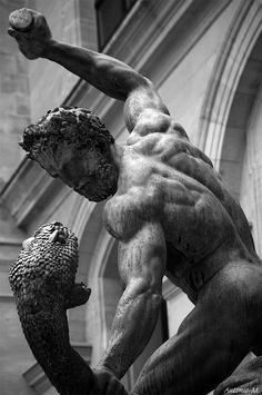 Hercules Fighting Achelous by Francoise-Joseph Bosio 1824 #Louvre #Paris #classical #sculpture