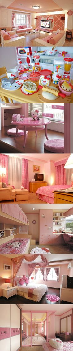 A Hello Kitty lover's home..that's a lot of Hello Kitty! :-)