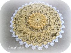 Sunshine Pineapples Doily by lindacrochets, via Flickr