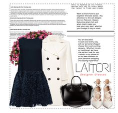 """LATTORI dress 6"" by mell-2405 ❤ liked on Polyvore featuring Nearly Natural, Marni, Lattori, Gianvito Rossi, Givenchy, dress, dresses and lattori"
