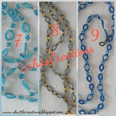 UshasCreations: My Lanyards Bugle Beads, Seed Beads, Tat Rings, Anchor Threads, Decorated Envelopes, Tatting Jewelry, Black Seed, Tatting Patterns, White Beads