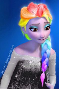 """Hi.im luna im anna's daughter and somehow i have rainbow powers. I hate school and my hair and outfits change"""