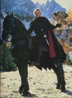 Goliath (the  gorgeous horse) from the movie Ladyhawke, with Rutger Hauer