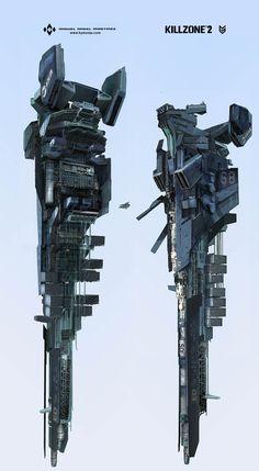 killzone 2 ISA cruiser concept art miguel bymonje